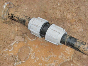 Polyethylene Pipe PE repaired